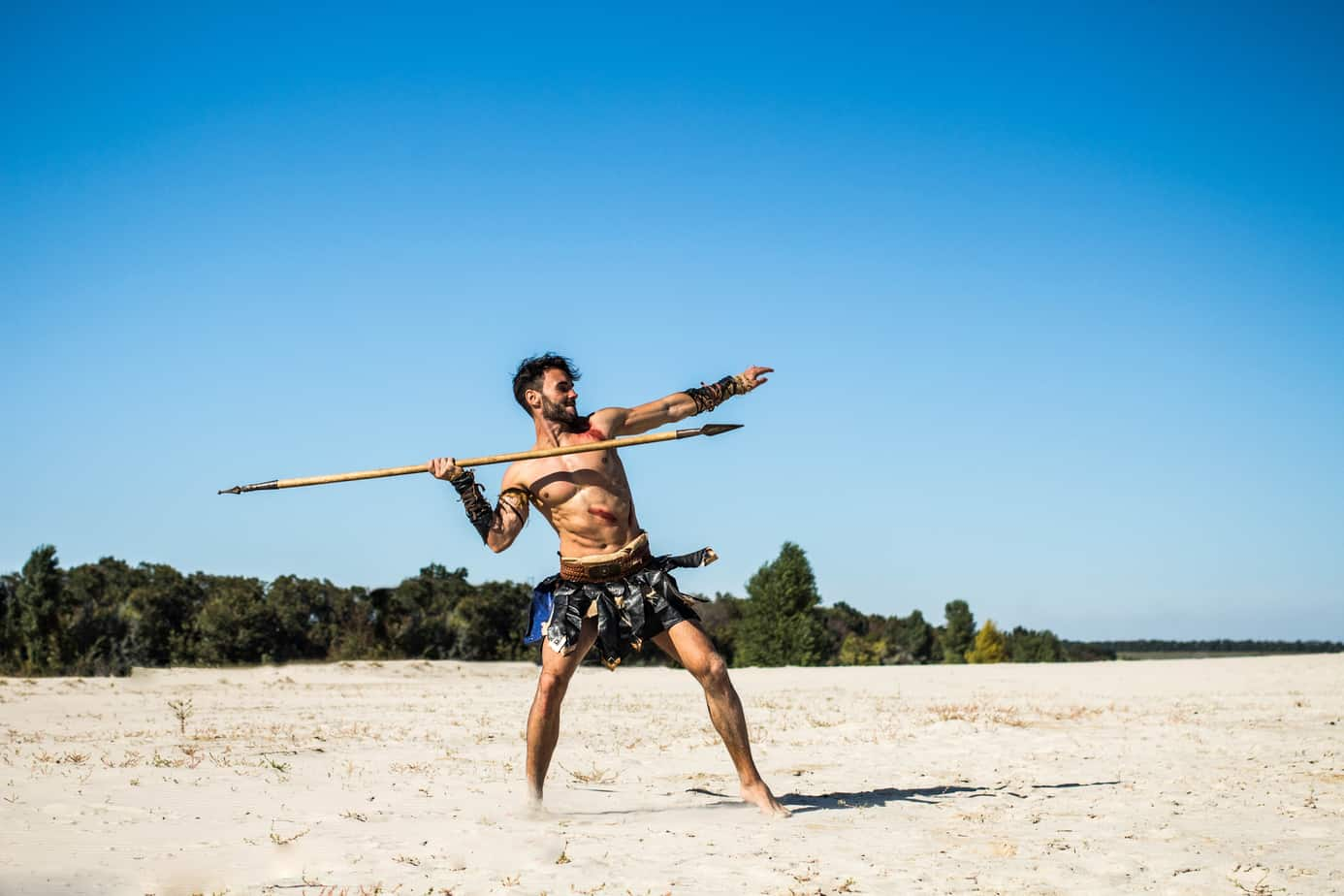 man with spear